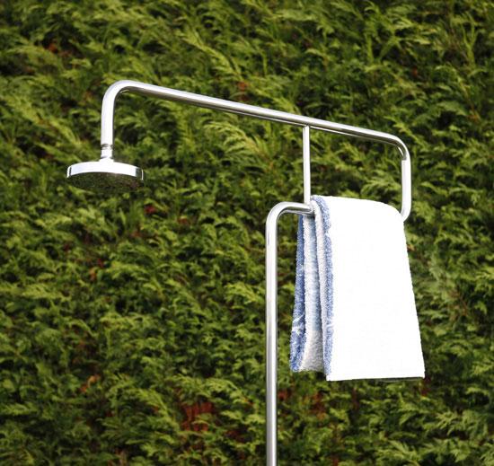 gartendusche trombone aus edelstahl dusche f r den garten kaltwasser ebay. Black Bedroom Furniture Sets. Home Design Ideas