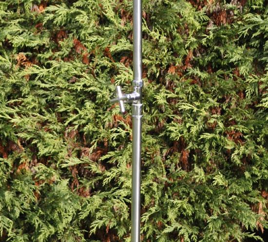 Dusche Garten Ohne Wasseranschluss : Gartendusche TROMBONE aus Edelstahl Dusche f?r den Garten Kaltwasser