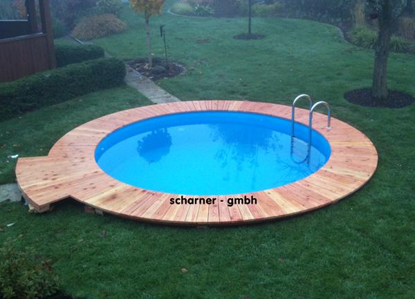 Swimmingpool bari rund schwimmbecken d w pool 400x150cm ebay for Swimming pool rund stahlwand